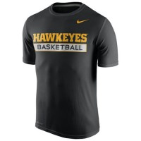 Iowa Hawkeyes Nike Basketball Practice Performance T-Shirt Navy