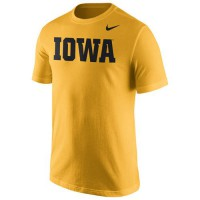Iowa Hawkeyes Nike Wordmark T-Shirt Gold