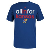 Kansas Jayhawks Adidas All In For T-Shirt Royal Blue