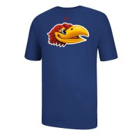 Kansas Jayhawks Adidas So Real Go To T-Shirt Royal Blue