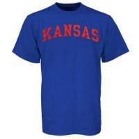 Kansas Jayhawks Arch T-Shirt Royal Blue