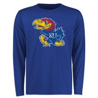 Kansas Jayhawks Big & Tall Classic Primary Long Sleeves T-Shirt Royal
