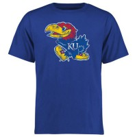 Kansas Jayhawks Big & Tall Classic Primary T-Shirt Blue