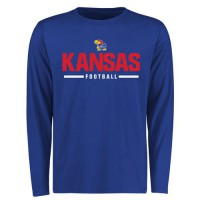 Kansas Jayhawks Customized Sport Wordmark Long Sleeves T-Shirt Royal