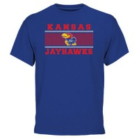 Kansas Jayhawks Micro Mesh T-Shirt Royal Blue