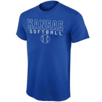 Kansas Jayhawks New Agenda Frame Softball T-Shirt Royal