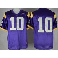 LSU Tigers #10 Anthony Jennings Purple Stitched NCAA Jersey