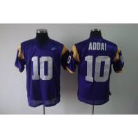 LSU Tigers #10 Joseph Addai Purple Stitched NCAA Jersey