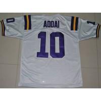 LSU Tigers #10 Joseph Addai White Stitched NCAA Jersey