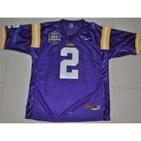 LSU Tigers #2 Rueben Randle Purple 2012 BCS Championship Patch Stitched NCAA Jersey