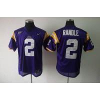LSU Tigers #2 Rueben Randle Purple Stitched NCAA Jersey