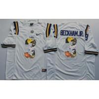 LSU Tigers #3 Odell Beckham Jr White Player Fashion Stitched NCAA Jersey