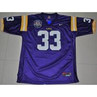 LSU Tigers #33 Odell Beckham Purple 2012 BCS Championship Patch Stitched NCAA Jersey