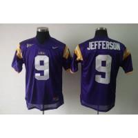 LSU Tigers #9 Jordan Jefferson Purple Stitched NCAA Jersey