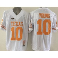 Longhorns  10 Vince Young White Stitched NCAA Jersey 3701f9dcc
