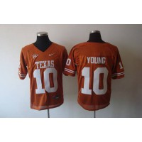 Longhorns #10 Young Orange Stitched NCAA Jersey