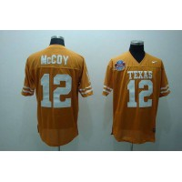 Longhorns #12 Colt McCoy Orange Stitched NCAA Jersey