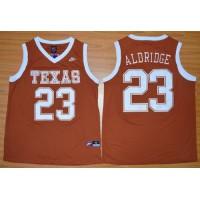 Longhorns #23 LaMarcus Aldridge Orange Basketball Stitched NCAA Jersey