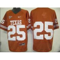 Longhorns #25 Orange Stitched NCAA Jersey