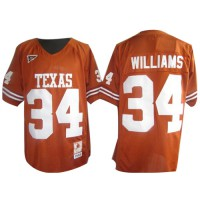Longhorns #34 Ricky Williams Orange Stitched NCAA Jersey