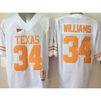 Longhorns #34 Ricky Williams White Stitched NCAA Jersey