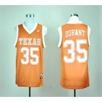 Longhorns #35 Kevin Durant Orange Basketball Stitched NCAA Jersey