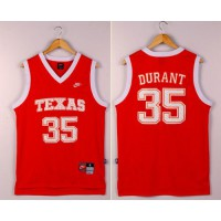 Longhorns #35 Kevin Durant Orange New Stitched NCAA Jersey