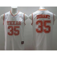Longhorns #35 Kevin Durant White Stitched NCAA Jersey