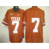 Longhorns #7 Orange Stitched NCAA Jersey
