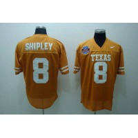 Longhorns #8 Jordan Shipley Orange Stitched NCAA Jersey