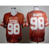Longhorns #98 Brian Orakpo Orange Stitched NCAA Jersey