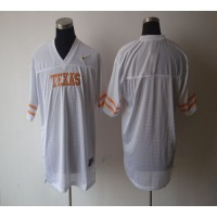 Longhorns Blank White Stitched NCAA Jersey