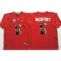 Louisville Cardinals #5 Christian McCaffrey Red Player Fashion Stitched NCAA Jersey