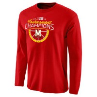Maryland Terrapins 2016 Big Ten Basketball Conference Champions Long Sleeves T-Shirt Red