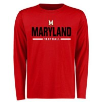 Maryland Terrapins Customized Sport Wordmark Long Sleeves T-Shirt Red