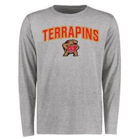 Maryland Terrapins Proud Mascot Long Sleeves T-Shirt Ash