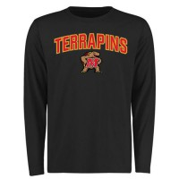 Maryland Terrapins Proud Mascot Long Sleeves T-Shirt Black