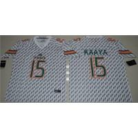 Miami Hurricanes #15 Brad Kaaya White Stitched NCAA Jerseys