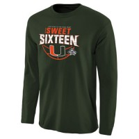 Miami Hurricanes 2016 NCAA Men's Sweet 16 Sweet Play Long Sleeves T-Shirt Green