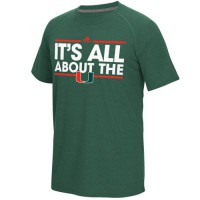 Miami Hurricanes Adidas Dassler Local Ultimate climalite T-Shirt Green