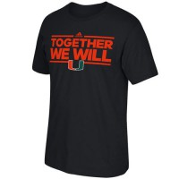 Miami Hurricanes Adidas Together We Will T-Shirt Navy