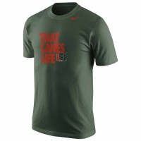 Miami Hurricanes Nike Basketball Mascot Life T-Shirt Green