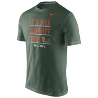 Miami Hurricanes Nike Game Day Crew T-Shirt Green