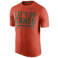 Miami Hurricanes Nike Local Verbiage Dri-FIT Legend T-Shirt Orange
