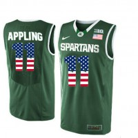 Michigan State Spartans #11 Keith Appling Green College Basketball Jersey