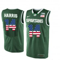 Michigan State Spartans #14 Gary Harris Green College Basketball Jersey