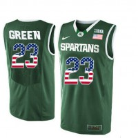 Michigan State Spartans #23 Draymond Green Green College Basketball Jersey