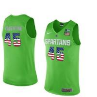 Michigan State Spartans #45 Denzel Valentine Apple Green College Basketball Jersey