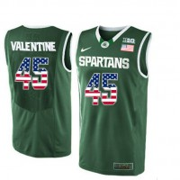 Michigan State Spartans #45 Denzel Valentine Green College Basketball Jersey