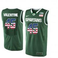 Michigan State Spartans #45 Denzel Valentine Green College Basketball Jersey